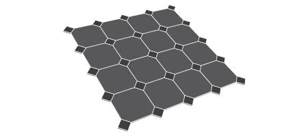 Layout pattern - Cabochons paving
