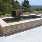 Bassin fontaine en pierre de Bourgogne Montroland