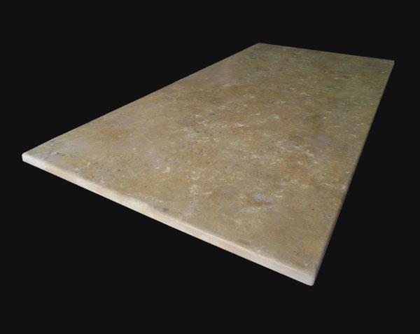 Plateau de table en pierre de Bourgogne finition antiquaire