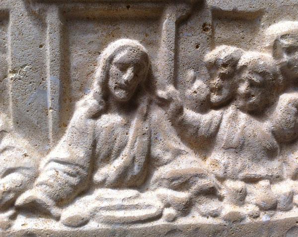 Détail de la reproduction de la fresque de Léonard de Vinci - Église Santa-Maria delle Grazie - Milan