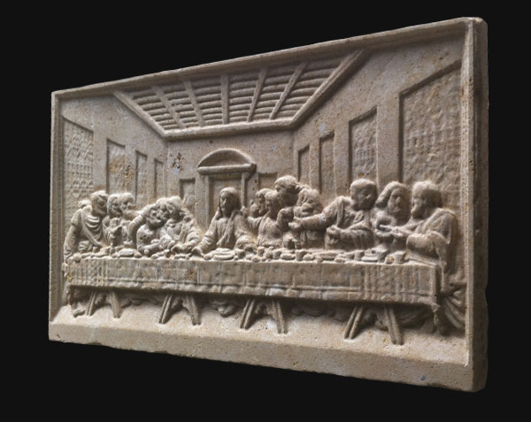 Reproduction de la fresque de Léonard de Vinci - Église Santa-Maria delle Grazie - Milan