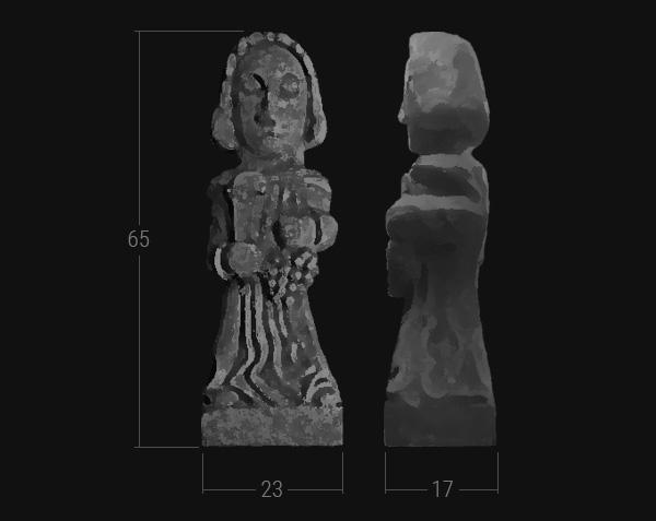 Saint-Vincent - Statue en pierre de Bourgogne - Dimensions Grand Format