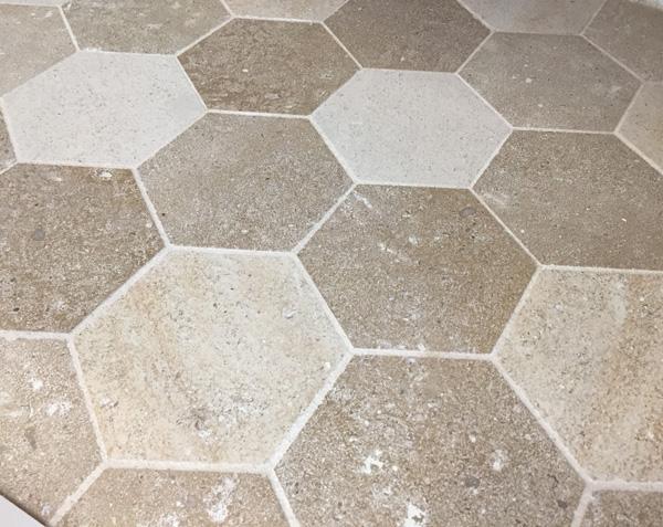 Carrelage Tomette en pierre naturelle Mélanges de couleurs de Bourgogne