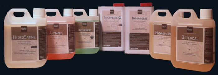 Range of protection and maintenance products for natural stone