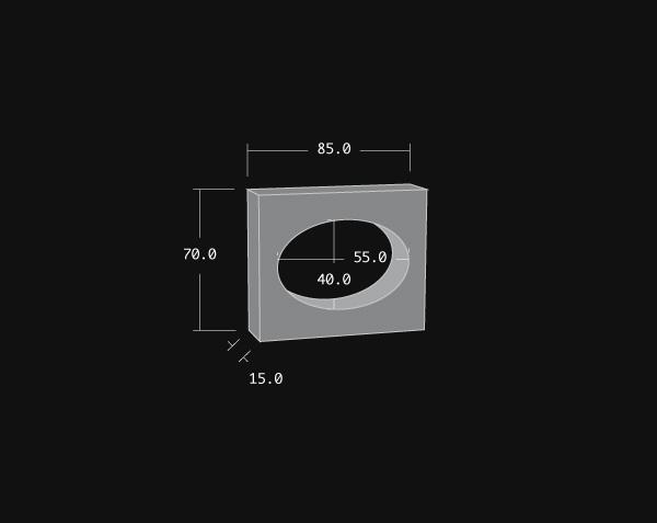 Oeil de boeuf en pierre - Oval
