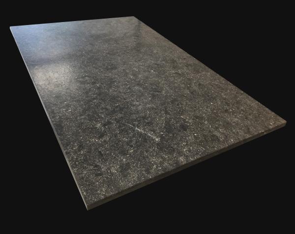Plateau de table en pierre noir - Pierre Bleue Belge Brossé