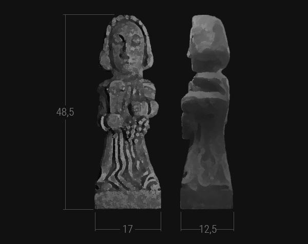Saint-Vincent - Statue en pierre de Bourgogne - Dimensions Moyen Format