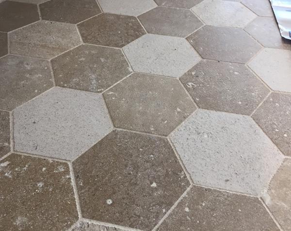 Tomette en pierre - Finition Adouci