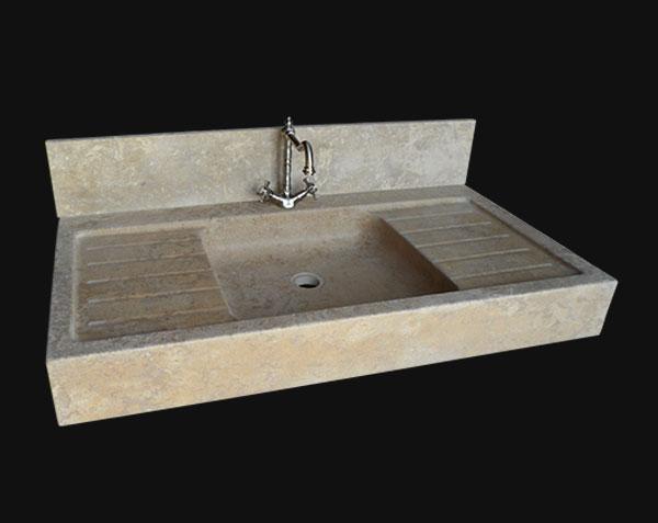 Cr dence en pierre de bourgogne cuisine plan de travail jambages - Evier cuisine en pierre ...