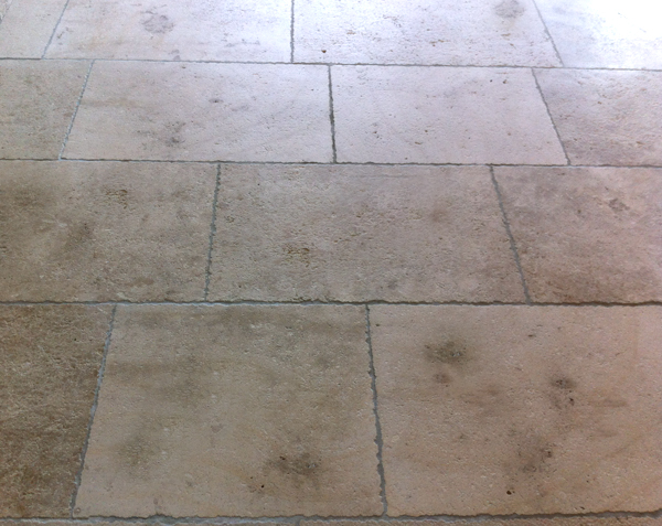 Dallage en pierre de Bourgogne Ampilly Finition Vieille Dalle de Bourgogne avec patine - Longueurs Libres x Largeur 40 cm