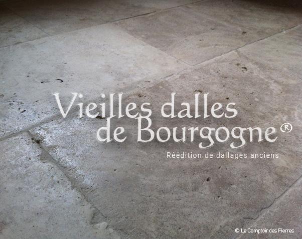 Dallage Vieilles Dalles de Bourgogne avec patine - Semond Nuancé