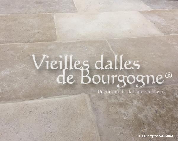Vieilles Dalles en pierre - Assemblage 3 pierres de Bourgogne