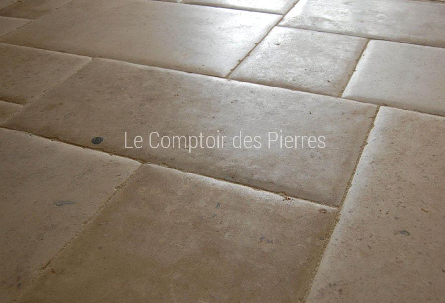 Dalles en pierre de Bourgogne adouci chants bombés Abbaye