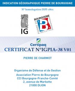 Homologation IG Pierre de Bourgogne