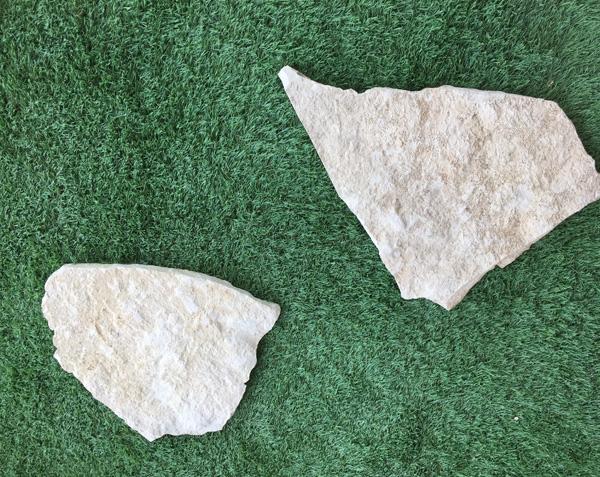 Opus incertum en pierre utilisé en pas japonais