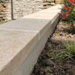 Couvertines en pierre de Bourgogne Lanvignes - Finition Brossé
