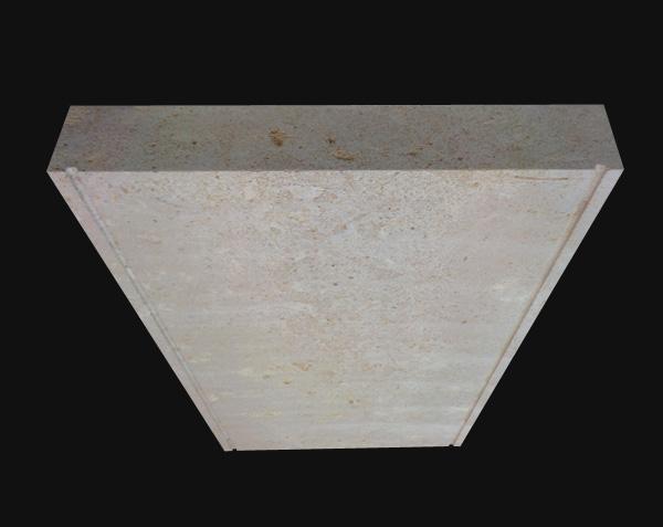 Dessus de muret - Pierre plate avec détail goutte d'eau ou larmier