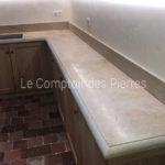 Plan de cuisine en pierre de Bourgogne Corton Adouci