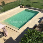 Pool coping stones Lanvignes Burgundy limestone Thickness 12 cm