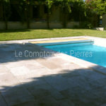 Pool coping stones Lanvignes Burgundy limestone Thickness 6 cm