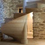 Spiraling staircasein Burgundy stoneSemond