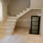 Staircase - Facingin Burgundy limestoneSemond