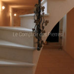 Staircase - Facingin Burgundy limestoneSemond light