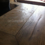 Kitchen worktop in Burgundy limestone Lanvignes with antique patina