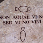 Details of hollow carvingin Burgundy limestone - Lie de vin color