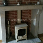 Fireplacein Burgundy limestone
