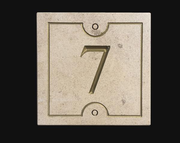 Numéro de rue Bronze - Pierre : Chassagne