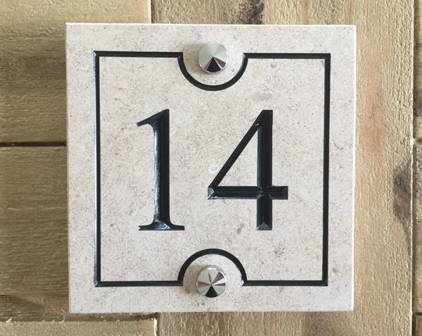 Numéro de rue en pierre - Kit fixation Pointe de diamant Chromé