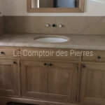 Vanity top for bathroom in natural stone from Burgundy