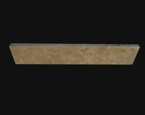 Pierre de Lanvignes Doré-Jaune - Plinthe brossé avec 1/4 de rond
