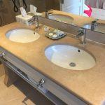 Plan vasque de salle de bain - Charmot Doré Adouci
