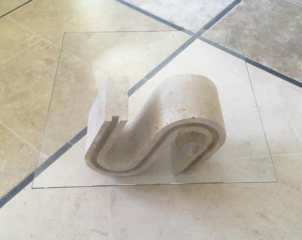 Table basse en pierre naturelle