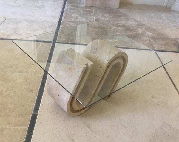 Table basse de salon en pierre naturelle
