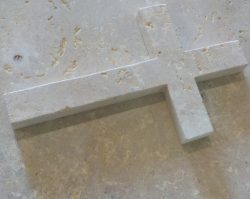 Cross in natural stone - Tombstone