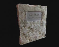 Grave marker stone
