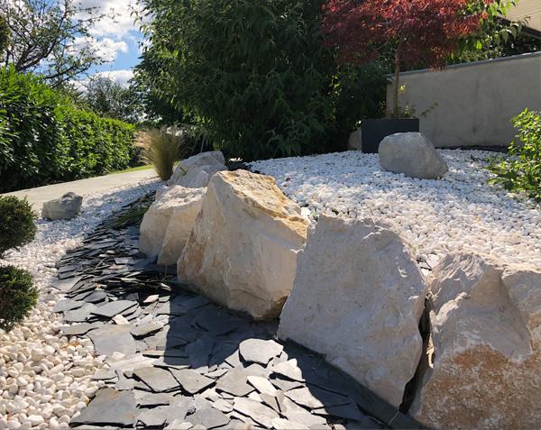 Enrochement en pierre naturelle