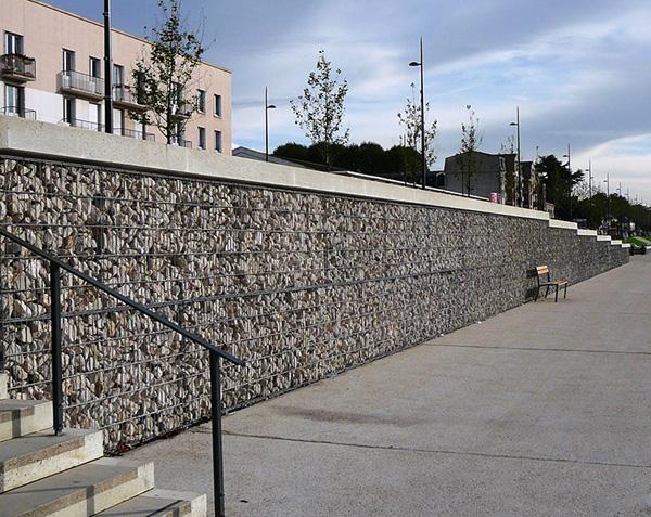 Quantité de pierre pour gabion