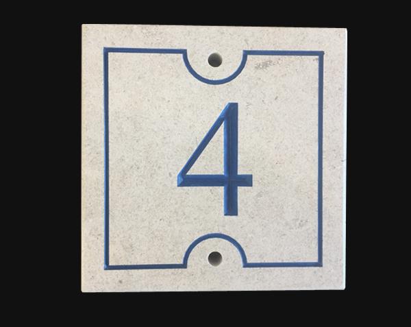 Numéro de rue Bleu - Pierre : Chassagne